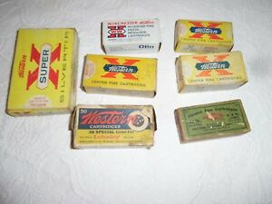 Vintage Winchester Empty Cartridge Ammo Boxes 7 Total