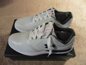 Under Armour UA Performance SL129177-101 White  Black  Red Golf Shoes Size 12