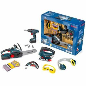 NEW Bosch Mini Toy Big Construction Worker Power Tools 14-Piece Set