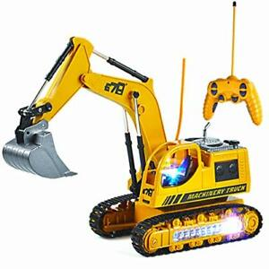 Remote Control Excavator Toy for Toddlers8CH 2.4G RC Construction Equipment