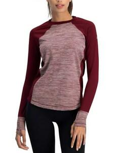 Long Sleeve Workout Tops for Women - Thermal Running Shirt Dry Fit wThumbholes