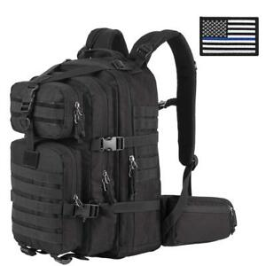 Military Tactical Backpack Small 3 Day Assault Pack Army Molle Bug Out Bag Black