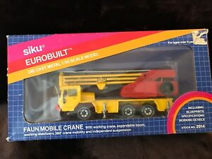 Siku 2914 155 scale Faun Mobile Crane CONSTRUCTION Die cast Original Box