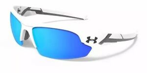 Under Armour 8600096-100941 youth windup shiny white charcoal frame blue lens