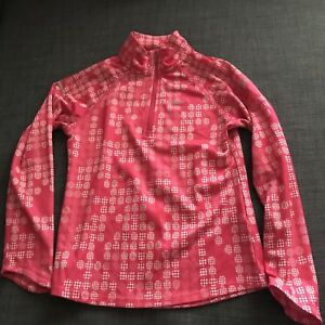 Girls Nike Dry Fit Long Sleeve Top Pink Size Small 6-8