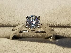 Platinum .71 ct Diamond Engagement Ring