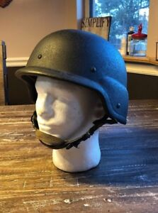 USGI MADE WITH KEVLAR HELMET SIZE LARGE PASGT L3 1987 DATE SIOUX MFG
