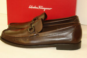 Men's Designer Dress Shoes - Salvatore Ferragamo made in Italy Size 10D (Brown)