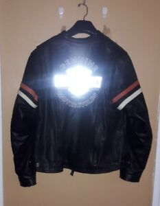 Harley Davidson women Miss enthusiast leather jacket 3 n 1 hoodie sz 1W reflect