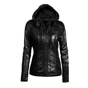 Rosetic Gothic faux leather coats Women hoodies Winter Autumn Motorcycle Jacket