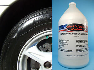 Professional Shine Rubber/Vinyl Trim and Tire Dressing (Silicone Based) 1 gallon