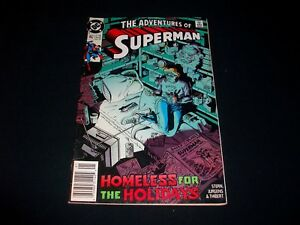 Comic Book - SUPERMAN #462 - HOMELESS FOR THE HOLIDAYS - RARE - FREE SHIPPING