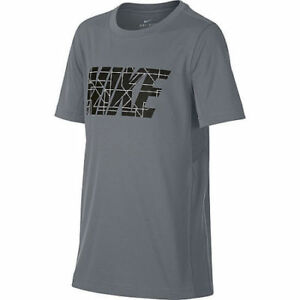 Nike Big Kid Boys GrayBlack T Shirt with Dri-fit Technology Size Small or Med