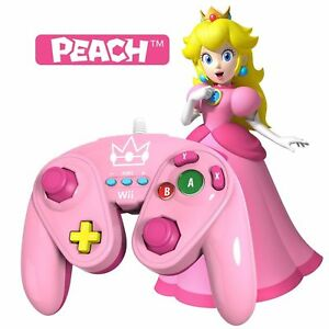 PDP Wired Fight Pad for Wii U - PEACH New