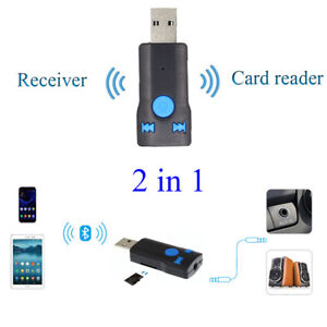 USB Bluetooth Card Reader Wireless Audio Music Stereo Adapter Dongle Receiver