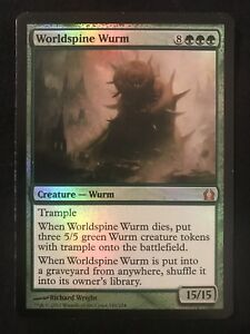 X1 Foil Worldspine Wurm NM Return To Ravnica Mtg Green Mythic Modern