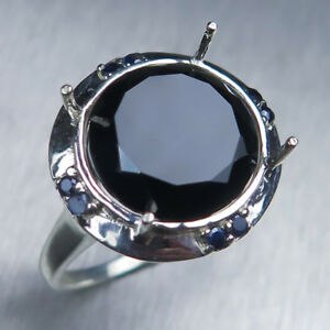 4.3ct Natural Tektite Meteorite dark brown 925 silver 14k 18k Gold unisex ring