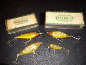 4 lot Barracuda Spark A Lures Florida Vintage fishing lure