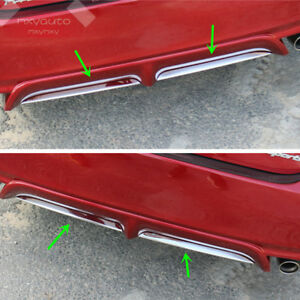 2X S.Steel Chrome Rear Bumper Lower Lip Trim for TOYOTA Camry SE XSE 2018 2019