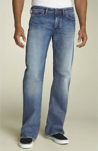 Men's DIESEL Zaghor Relaxed Bootcut Blue Jeans 008AT Made in Italy Sz 34x32 NEW