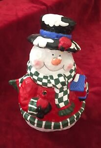 Charming *SNOWMAN COOKIE JAR* From