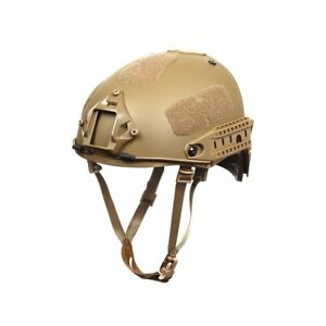 Outry Tactical Fast Helmet Adjustable ABS Helmet with Side Rails and NVG Mo