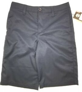 Under Armour Golf Shorts Blue Heat Gear Loose Fit 1290349 Youth Boys Size 14