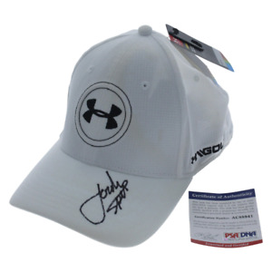 Jordan Spieth Autographed Signed White Under Armour Golf Hat - PSADNA Authentic