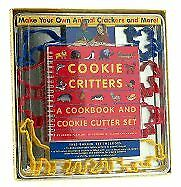 COOKIE CRITTERS: A COOKBOOK AND COOKIE CUTTER SET By Debora Pearson - NEW