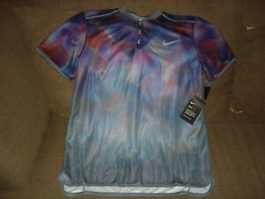 NWT Nike Court Dry Advantage Del Potro 854605-497 Slim Fit Tennis Polo Shirt