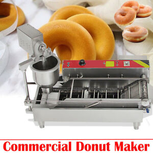 【UPS】3 SETS MOLD COMMERCIAL AUTOMATIC DONUT MAKER MAKING MACHINE WIDE OIL TANK