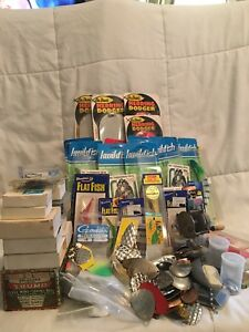 Huge Lot Of Fishing Hooks Lures Flashers Fishing Tackle