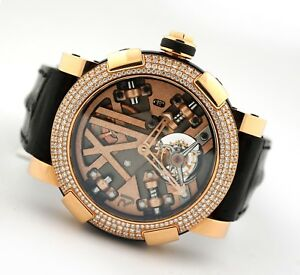 ROMAIN JEROME TITANIC-DNA STEAMPUNK RED TOURBILLON RJ.TO.SP.002 ROSE GOLD WATCH