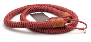 MONARCH BOA 'CRIMSON' RED PARACORD (with BROWN LEATHER) 45
