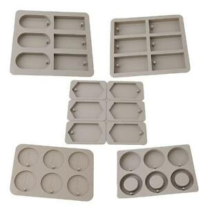 6 Cavity Square Silicone Soap Wax Mold Flexible Durable WT