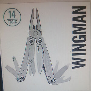 New Leatherman Wingman Multi-Tool Stainless w Nylon Sheath