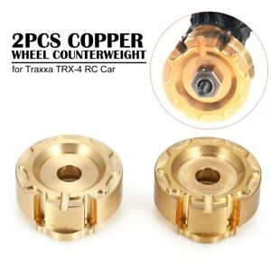 2pcs Copper Tire Wheel Weights Counterweight for Traxxa TRX-4 RC Car HL