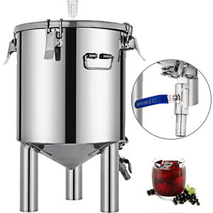 7 Gal Brew Bucket Fermenter Conical Ferment Pot Beer In-Vessel Brewing Equipment