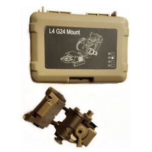 SPINA Tactical Airsoft Metal L4 G24 NVG Mount CNC Fast OPS PJ MH BJ Mich Helmet