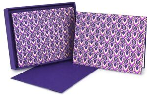 The Gift Wrap Company Boxed Note Cards Mini Feather Purple 36696 $26.00
