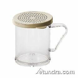 Cambro Camwear Polycarbonate Shaker with Lid Clear Body Ivory Top 10 oz. $19.00