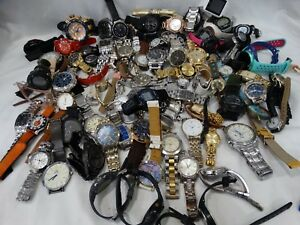 LOT OF MISC. WATCHES FOR PARTS. REPAIRS OR REPLACEMENTS