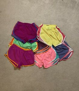 Nike Tempo Women's size S Lot 7 Pairs Athletic Running Shorts Pre Owned