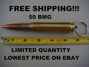 (*** FREE SHIPPING***) REAL BULLET KEYCHAIN 50 CAL BMG
