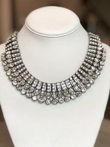 NWT CHICO'S Crystal BIB Statement Necklace $79.50