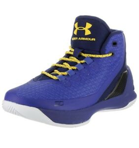 Under Armour Steph Curry 3 Sneakers Basketball Boys 6Y Youth