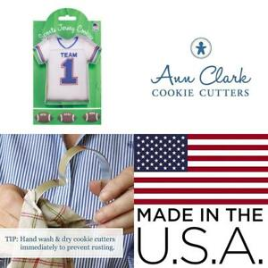 Sports Jersey Cookie and Fondant Cutter - Ann Clark - 4.375 Inches - US Tin...
