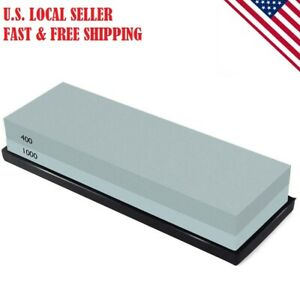Knife Sharpening Stone Combination Dual Sided Grit Polishing Non-Slip 400/1000