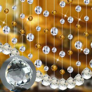 Lots Crystal Clear Prisms Part Chandelier Balls Hanging Pendant Bead Home Decor