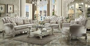 Versailles Traditional 6 Piece Living Room Set Sofa Love Chair Tables Carved